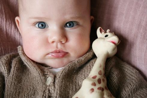 Coline et sophie la girafe