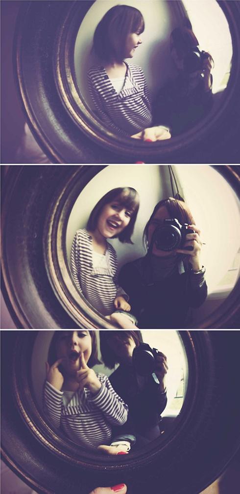 dans le miroir