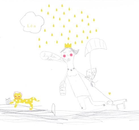 Quand je colorie un dessin de Léa ^.^